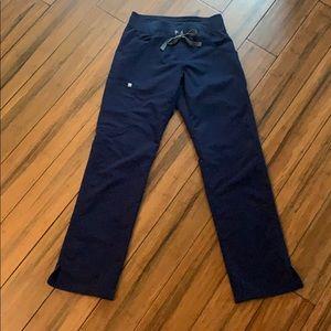 Figs navy cargo scrub pants
